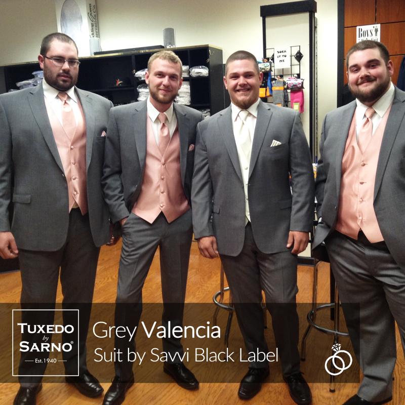 Grey Valencia Suit Wedding Party Stroudsburg