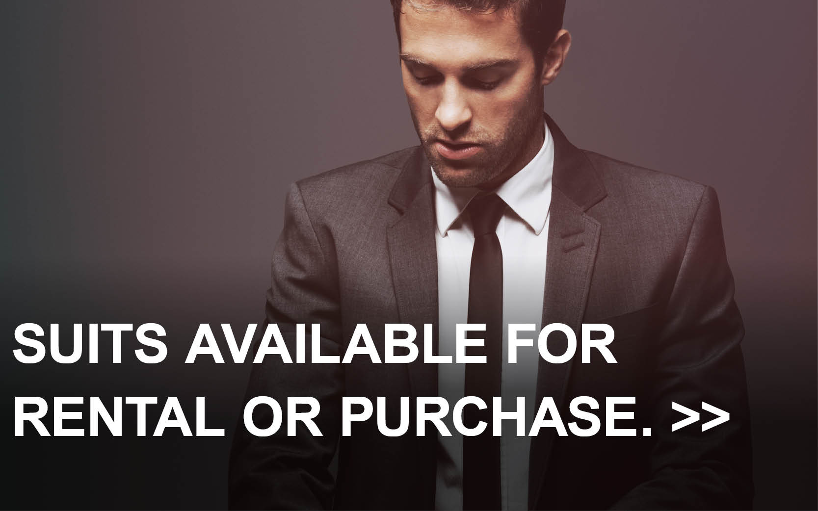 Suits available for rental or purchase